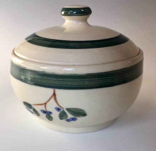 Shirley Odsather - Small Casserole with Alaskan Wild Blueberry Design