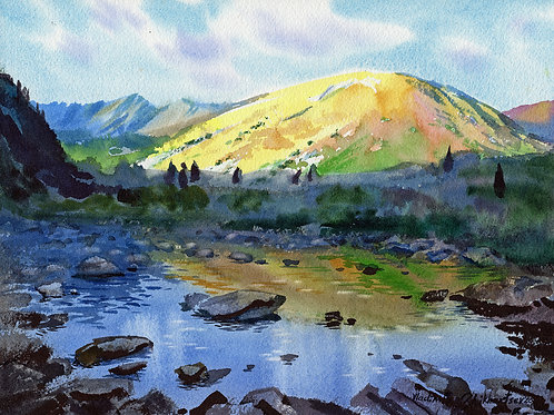 Vladimir Zhikhartsev PALMER CREEK. HOPE, ALASKA original watercolor