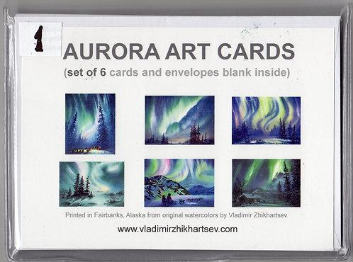 "V17 Vladimir Zhikhartsev Set #1, AURORA ART CARDS, 5""x7""Fine Art cards set"