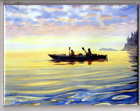 "V31 Vladimir Zhikhartsev #85 SEA KAYAKERS, ALASKA, 6""x8"" Sublimation tile/trivet"