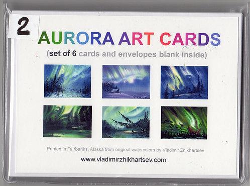 "V18 Vladimir Zhikhartsev Set #2, AURORA ART CARDS, 5""x7""Fine Art cards set"