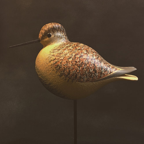 David Personius - Dunlin Shorebird - hand carved and painted wood