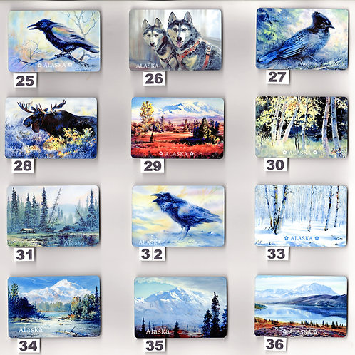 """Vladimir's ART MAGNETS from #25 to #36, sublimation print on metal, 2""""x3"""