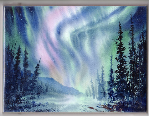 "V26 Vladimir Zhikhartsev #126 CRESCENDO, ALASKA , 6""x8"" Sublimation ceramic tile/trivet"