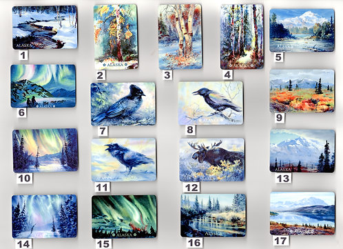 "ART MAGNETS are sublimation print 2""x3""on metal"