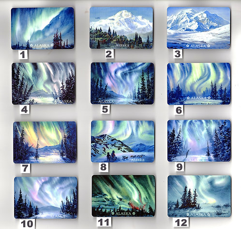 "Vladimir's ART MAGNETS are sublimation print on metal, 2""x3"""