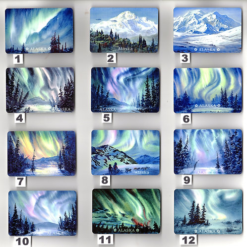 """Vladimir's ART MAGNETS from 1-12, sublimation print on metal, 2""""x3"""""""