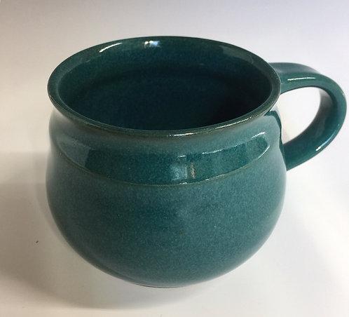 Shirley Odsather - Teal Espresso Mug - Wheel Thrown Porcelain