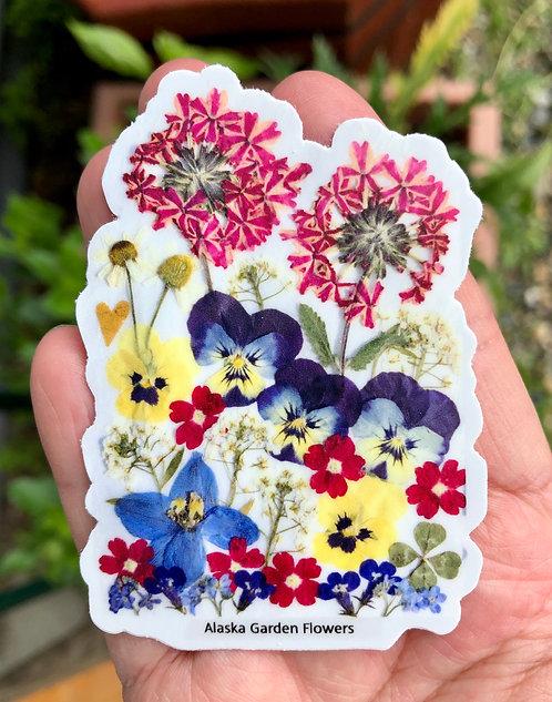 Pauline Lian-Alaskan Garden Flowers-Sticker