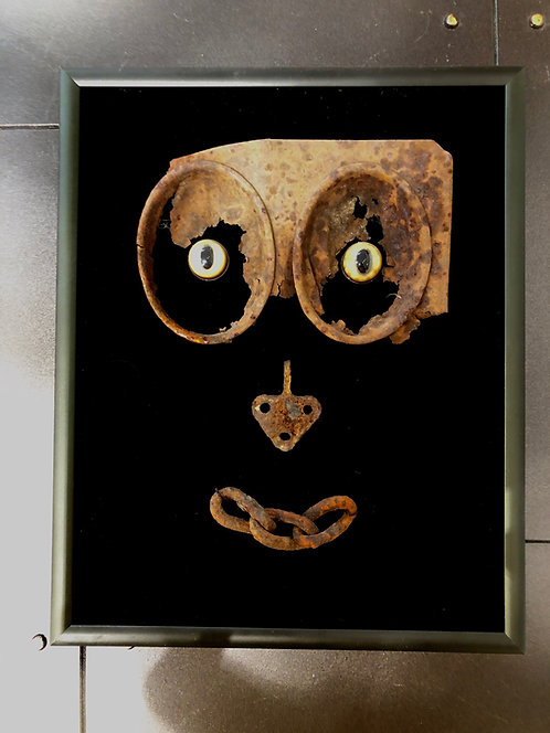 Hilda Melchior - We See Faces Everywhere - rust & glass