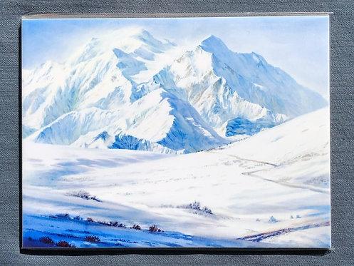 "Vladimir Zhikhartsev #108 RETURN TO DENALI, ALASKA - 6""x8""ceramic tile/trivet"