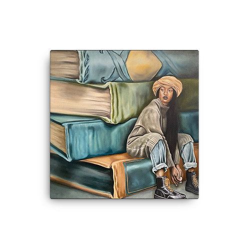 """Well Read"" 16x16 Canvas Print"