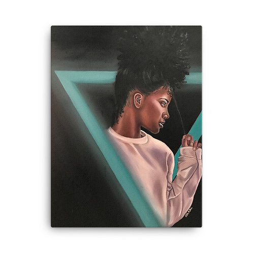 """Modeled Behavior"" 18x24 Canvas Print"