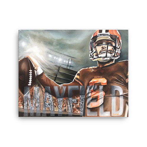 BAKER MAYFIELD CANVAS PRINT
