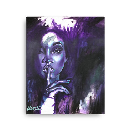 """Say Less"" 18x24 Canvas Print"
