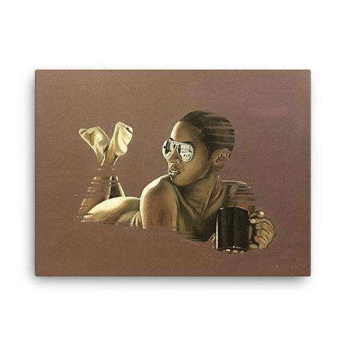 """Morning Coffee"" 18x24 Canvas Print"