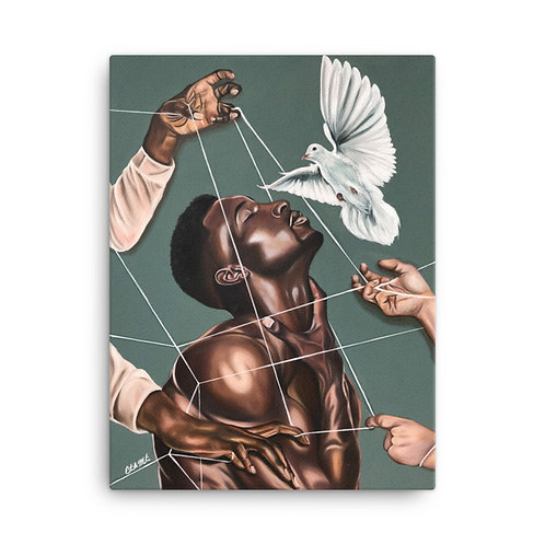 """Spiritual Warfare"" 18x24 Canvas Print"