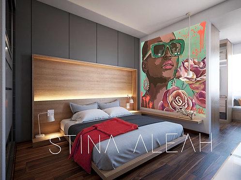"""Cocoa Peach"" Custom Mural"