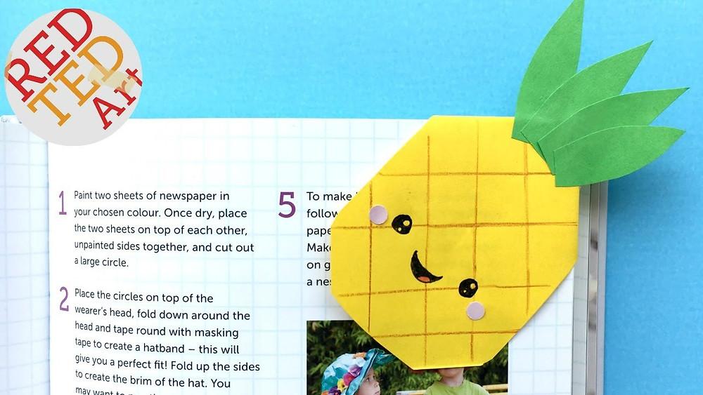 Pineapple bookmark corners