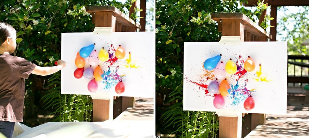 DIY balloon dart painting