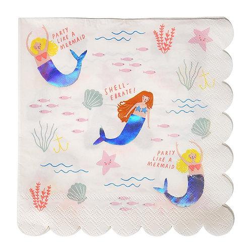 Let's Be Mermaids Napkins