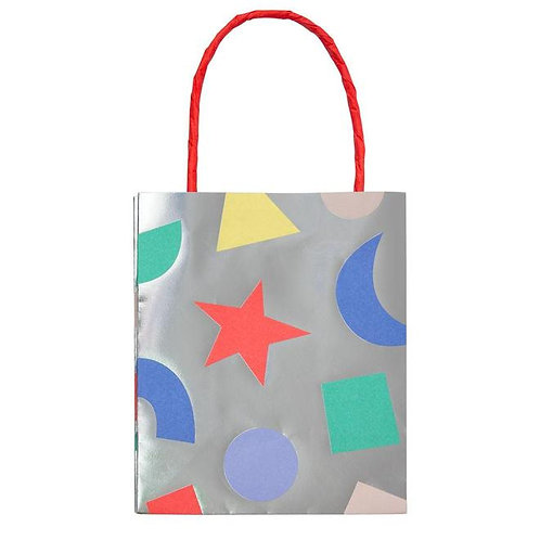 Silver Geometric Party Bag