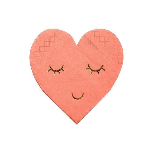 Blushing Heart Napkins
