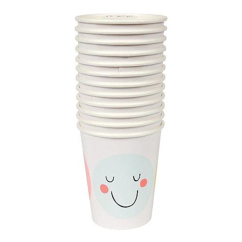 Pastel & Neon Emoji Cups