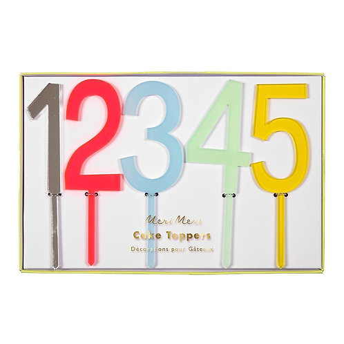 Acrylic Numbered Cake Toppers