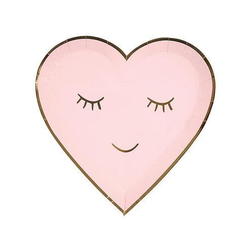 Blushing Heart Plates