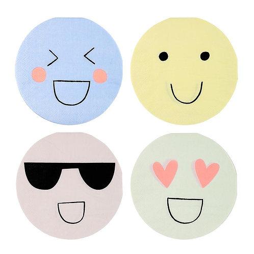 Pastel & Neon Emoji Napkins