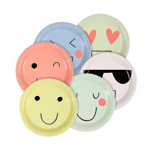 Pastel & Neon Emoji Plates
