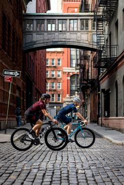 Riding through Tribeca