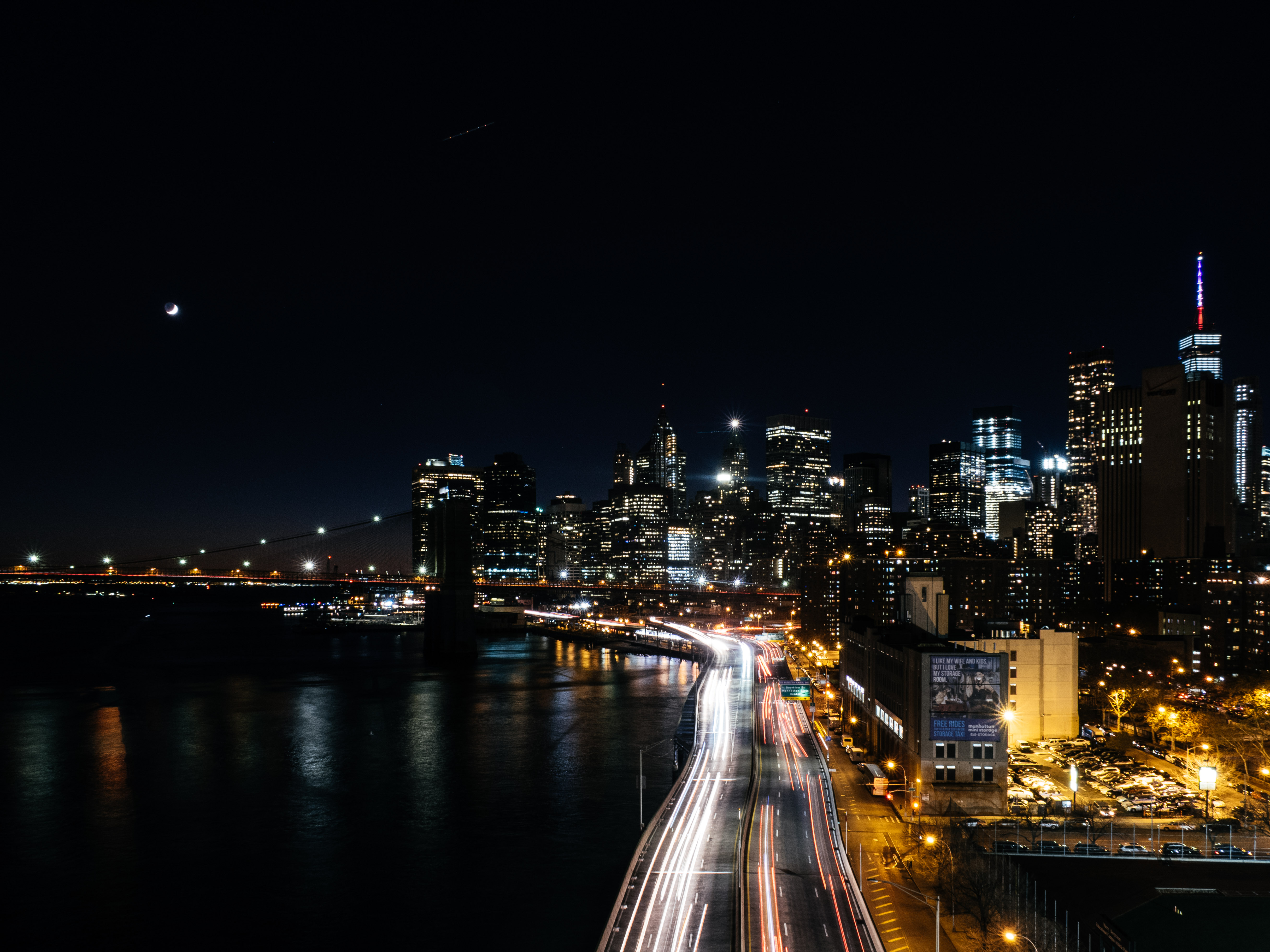 Night lights from the bridge