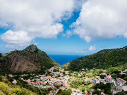 Small town on Saba Island