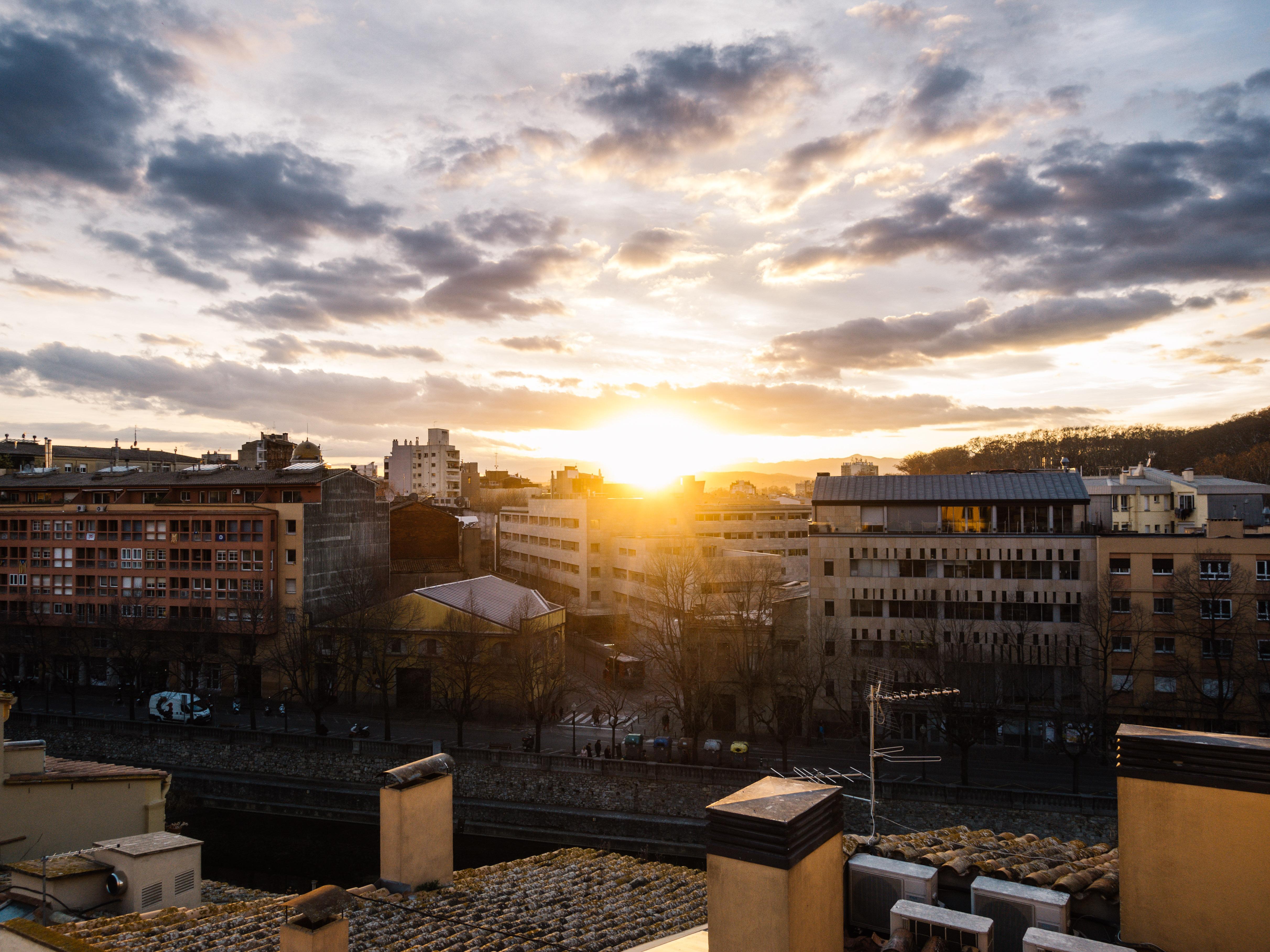 Sunset over Girona