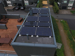 Flatt tak med solceller Kristiansand