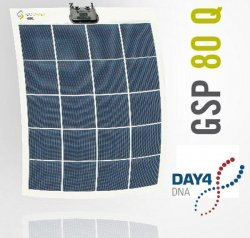 Solar panel DAY4 Flexible Poly 80 Wp 10V