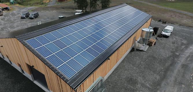 Solcelleanlegg Vindafjord