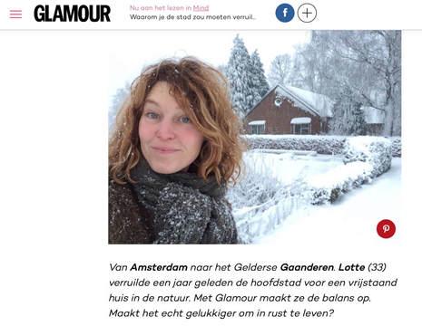 Artikel op glamour.nl
