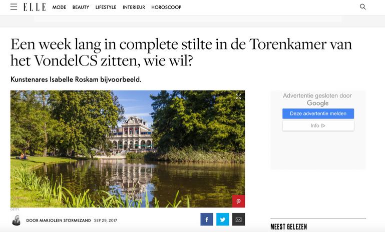 Isabelle Roskam op Elle.nl