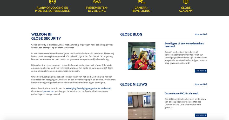 SEO teksten website Globe Group