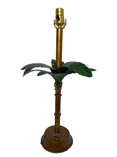 Vintage Toll Palm Tree Table Lamp