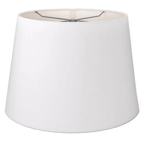 "Slubless British Drum Style Lampshades (10-18"") in Antique White"