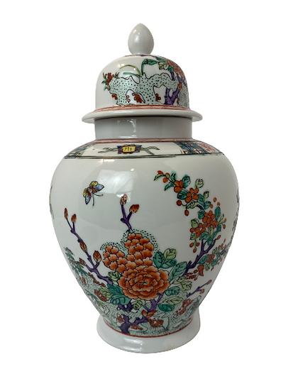 Vintage Ginger Jar Floral Vase
