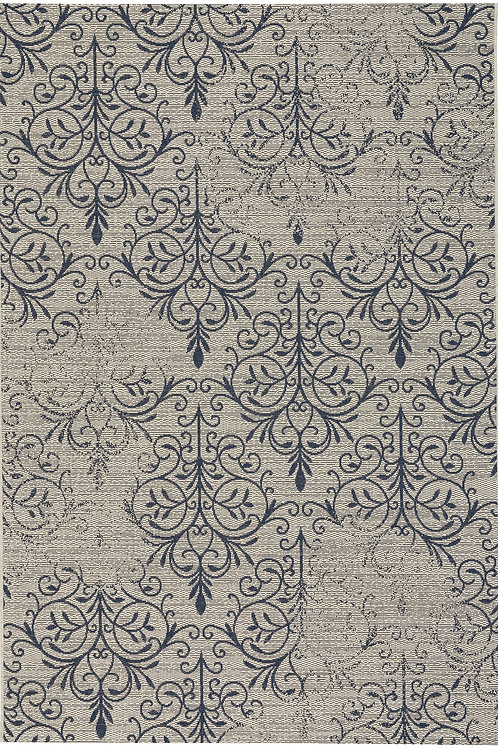 Heritage Collection Outdoor Rug in Navy
