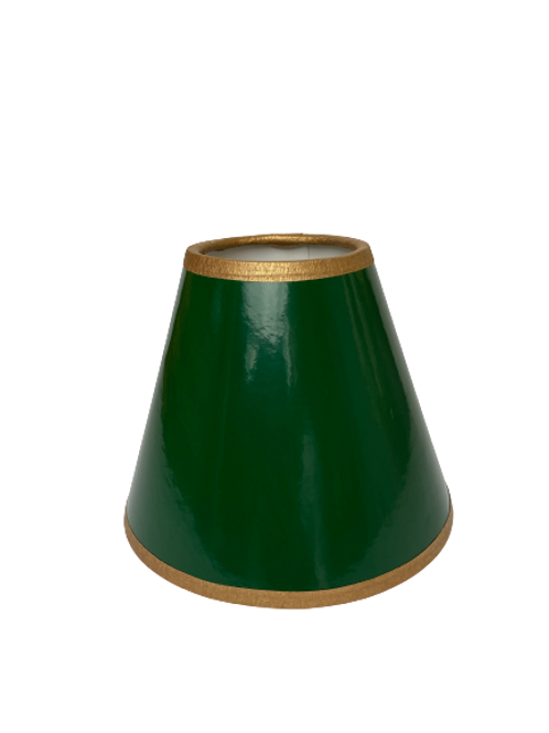 Painted Green Chandelier Shade