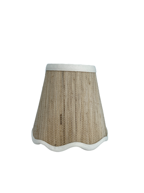 Scallop Grasscloth Chandelier Lampshade
