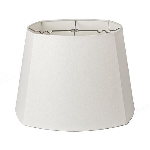 "Linen Cut Corner Square Style Lampshades (10-18"") in Bone"