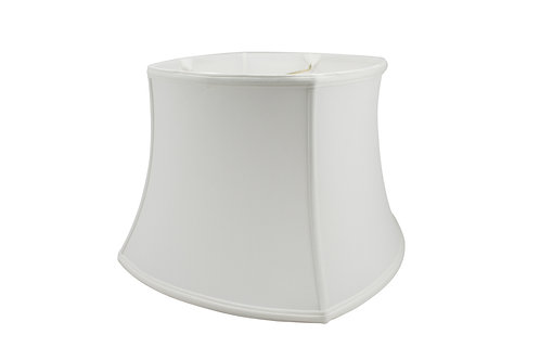 """Rounded Square Softshade in Bone or Egg Shantung 8"""" - 18"""""""